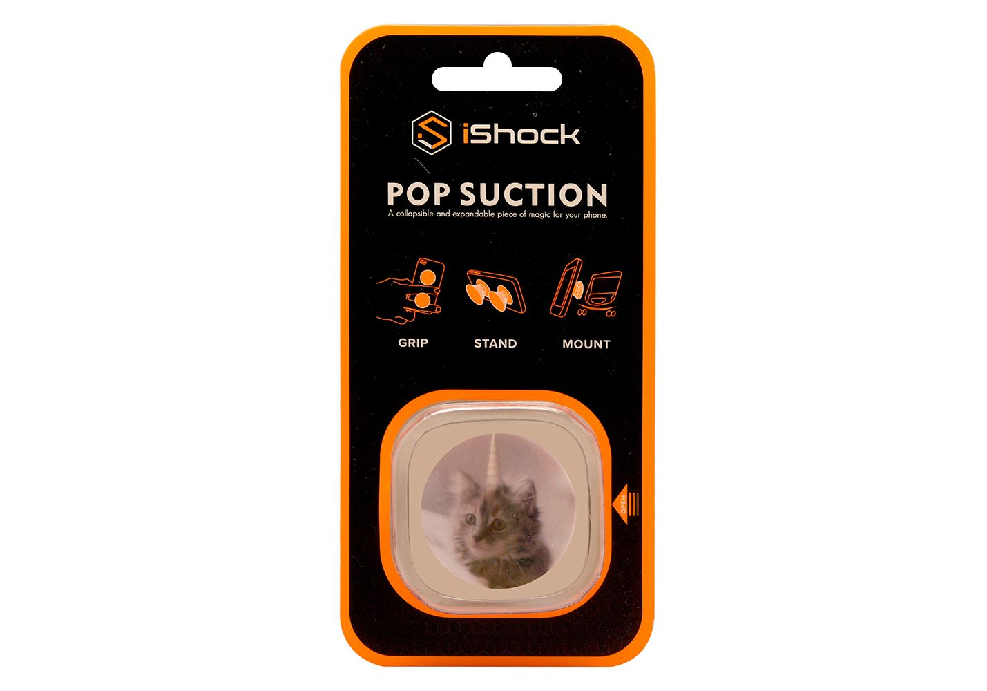 iShock Pop Suction Phone Grip Stand - Cat