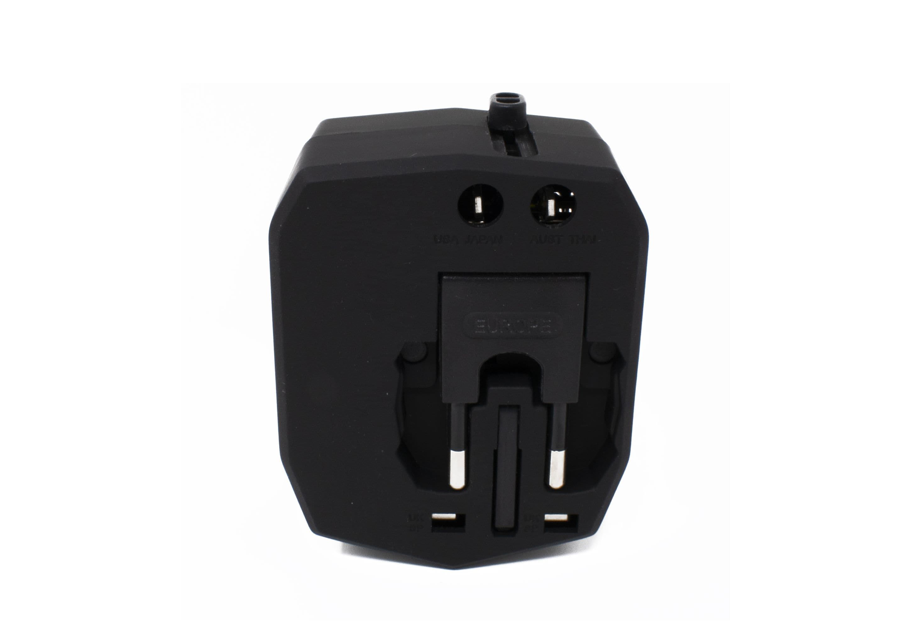 International AC adapter with 2 USB