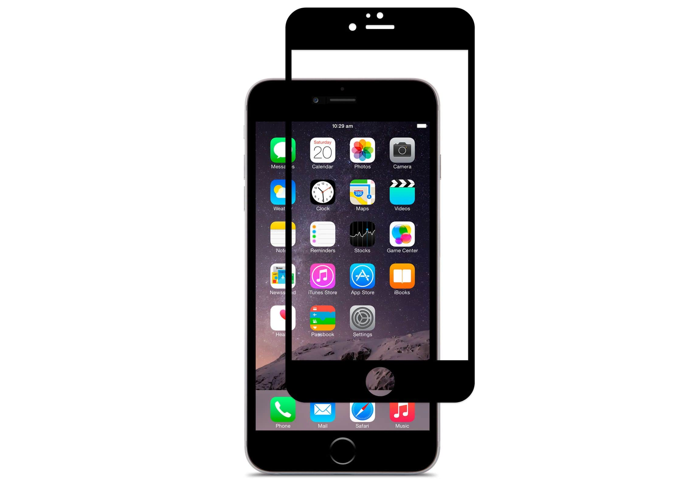 iPhone 6 Plus 3D Curved Screen Protector Black