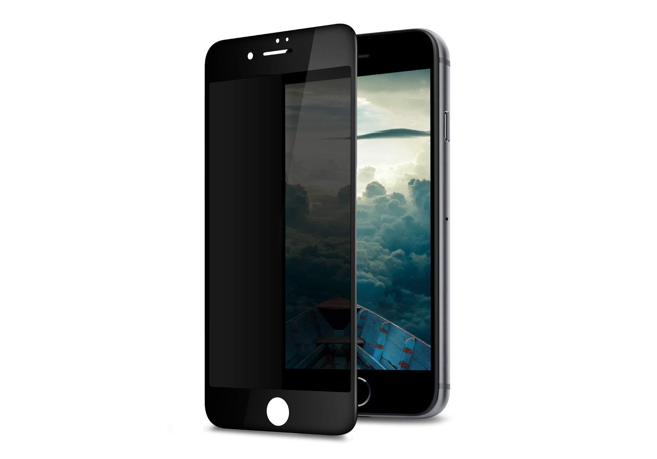iPhone 7 Plus Privacy 3D Curved Screen Protector Black