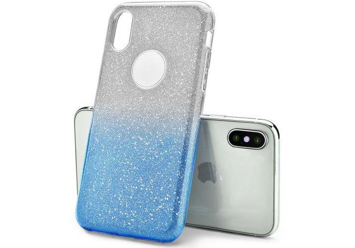 iPhone XS Max TPU Glitter Blue Case