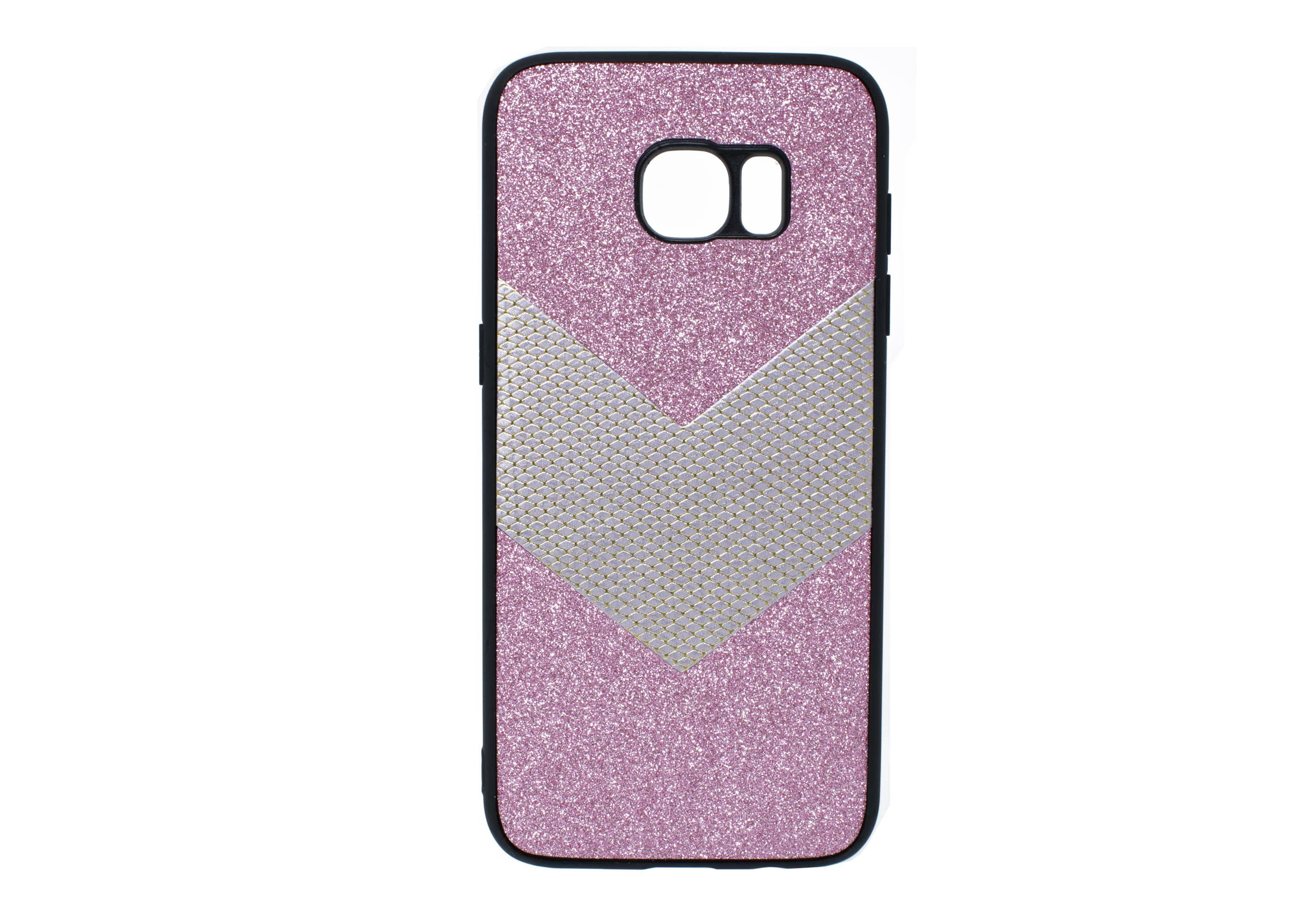 Samsung Galaxy S9 Pink Glitter with Silver Arrow Case
