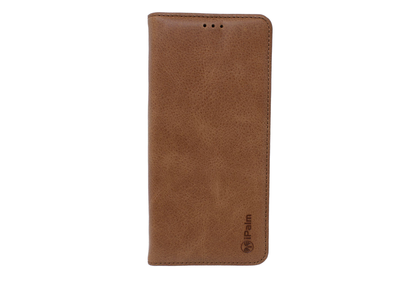 Samsung Galaxy S9 Premium Genuine Leather Book Brown