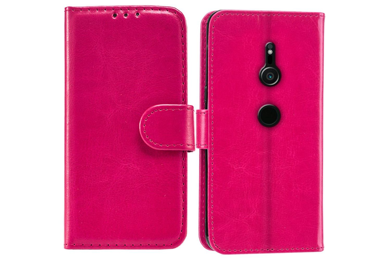 Sony Xperia XZ2 PU Leather Wallet Case - Pink