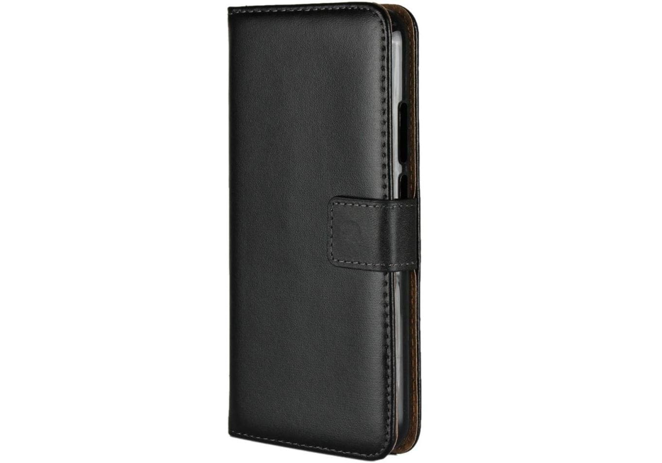 Huawei P20 Lite PU Leather Wallet Case - Black