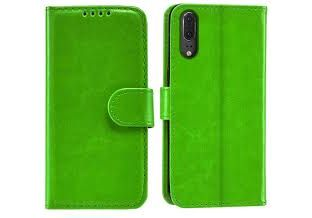 Huawei P20 PU Leather Wallet Case - Green