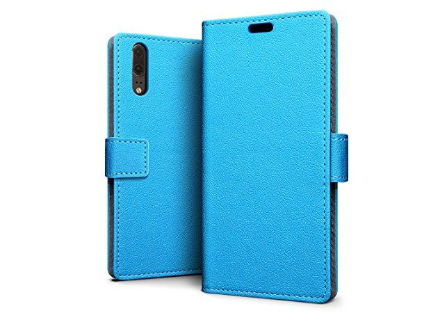 Huawei P20 PU Leather Wallet Case - Blue